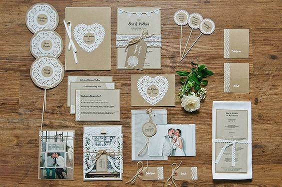 Praktische Tipps für Deine Vintage-Hochzeitseinladung mit Kraftpapier