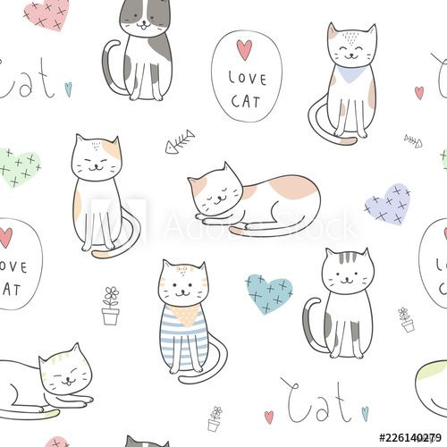 Pin By Celia Ooi On Cat With Images Kitten Cartoon Cat Background Kittens Cutest