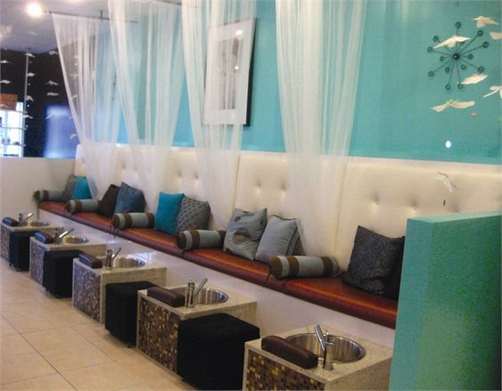 Salon decor design pedicures designer nails and chairs - Nail salon interior design photos ...