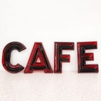 Vintage Original CAFE Letters Red Plastic: $99.99