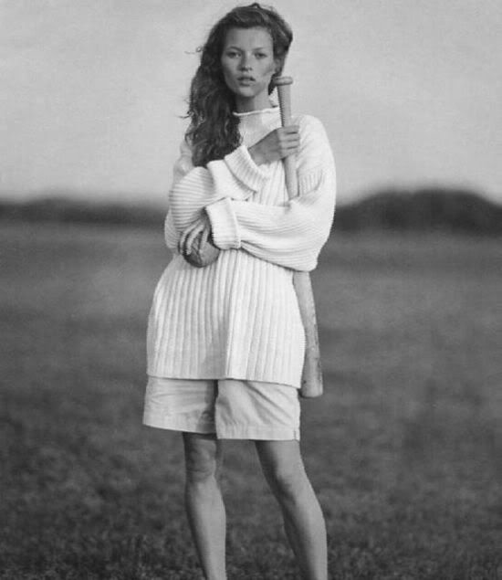 Kate Moss for Banana Republic 1992 by Bruce Weber.