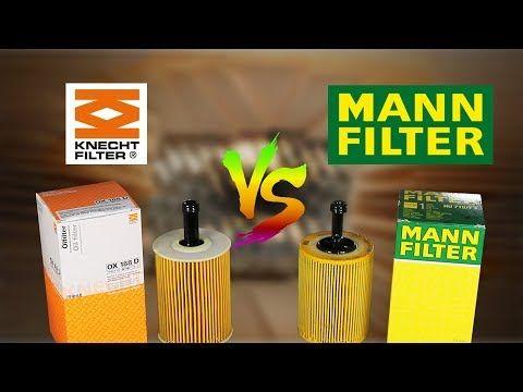 Mann Vs Knecht Oil Filter Comparison Youtube Oil Filter Filters Oils