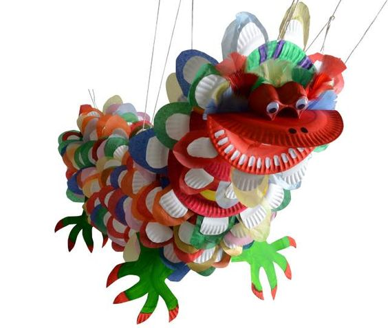 Chinese new year crafts paper plate dragon chinese new for Dragon crafts pinterest
