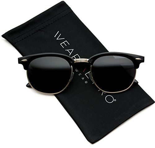 Image result for WearMe Pro - Classic Half Frame Polarized Semi-Rimless Rimmed Sunglasses