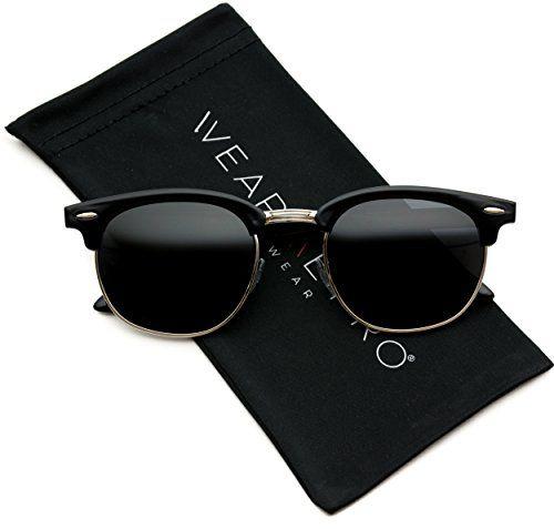 Image result for WearMe Pro - Classic Half Frame Polarized Semi-Rimless Rimmed Sunglasses