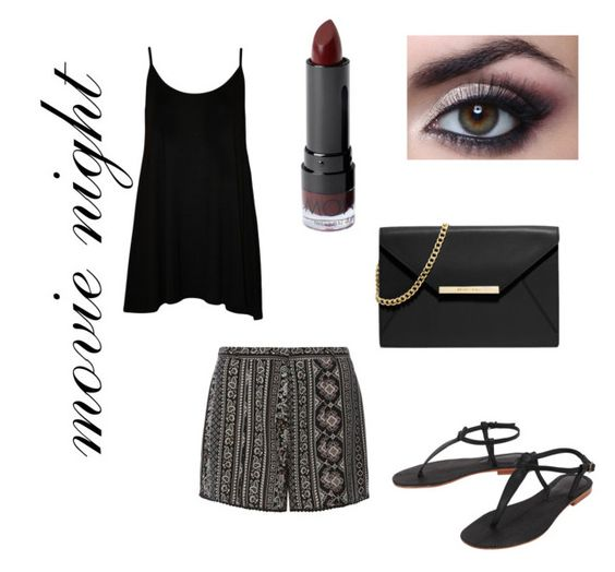 """""""movie night"""" by morgannwilson ❤ liked on Polyvore featuring mode, WearAll, Dorothy Perkins, Cocobelle, MICHAEL Michael Kors en Monki"""
