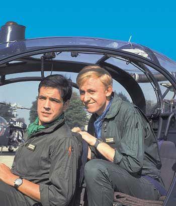 """We saw this dubbed into Afrikaans as """"Mirage Eskader"""" in the seventies. """"Les Chevaliers du Ciel"""", et les pilotes Tanguy et Laverdure. Uderzo a installé dans son jardin un Mirage III E, patiemment restauré et identique à ceux qu'il dessinait dans """"Tanguy et Laverdure"""". La chanson du générique Les Chevaliers du Ciel est interprétée par Johnny Hallyday. Clic 2X"""