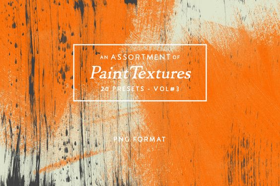 20 Assorted Paint Textures - Vol.3 by Tom Chalky on @creativework247