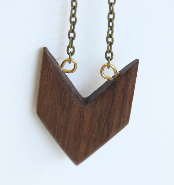 Stoned Archer Walnut Arrow Red Jasper Necklace by Acorn + Archer on Little Paper Planes $40
