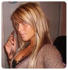 coiffure avec coloration blonde et mches brune - Coloration Brune A Blonde