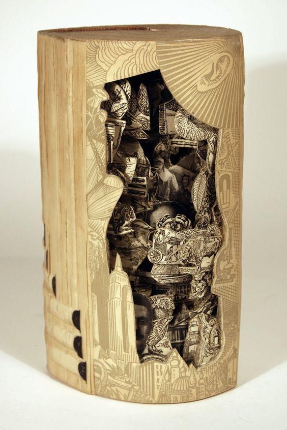 Des sculptures sur livres