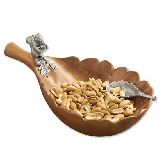 Squirrel and Oak Leaf Nut Bowl from Orvis.com. Love it, but too cheap to buy it.