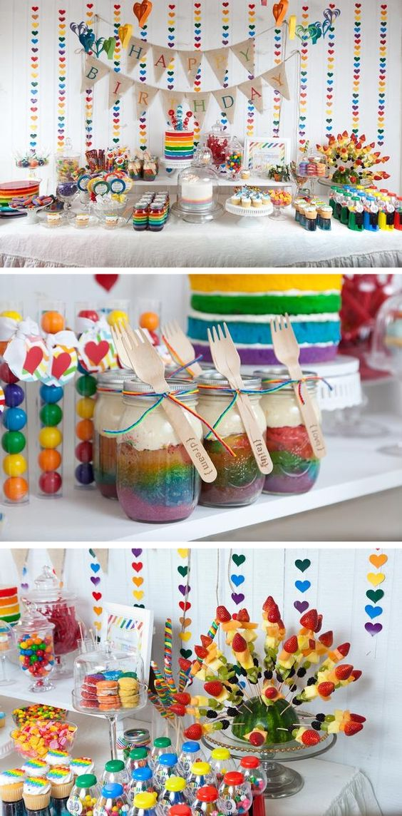 Ideas para fiestas tematicas arcoiris cumplea os - Tematicas para fiestas de cumpleanos ...