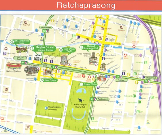 bangkok thailand attractions map – Charlotte Tourist Attractions Map