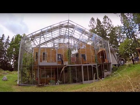 When It Comes To Extreme Greenhouses This One Is A New Idea To Me This Couple Has Built A Greenhouse Around Thei House In Nature Greenhouse Small Summer House