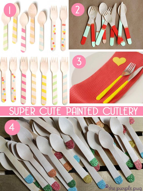 great ideas for dressing up cutlery