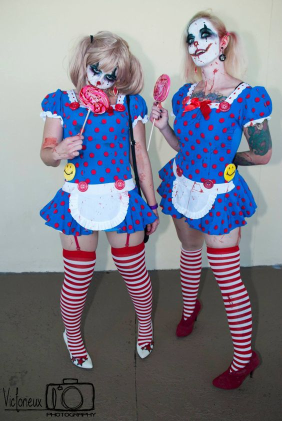 Twisted Sisters Clowns by Lauren See & Gothic Sushi