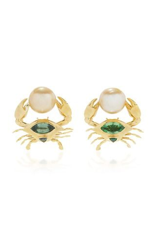Daniela Villegas Crab Earrings:
