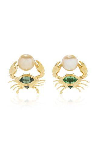 Daniela Villegas Crab Earrings: