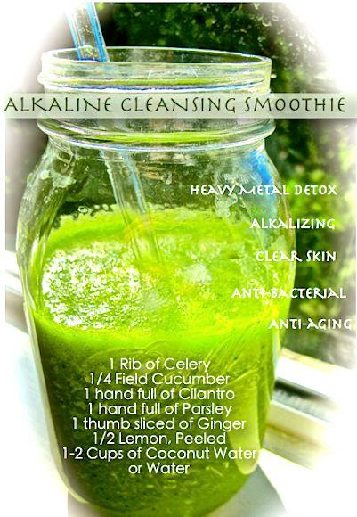 Detox drink 1 celery 1/4 cucumber 1 handful cilantro 1 handful parsley ...