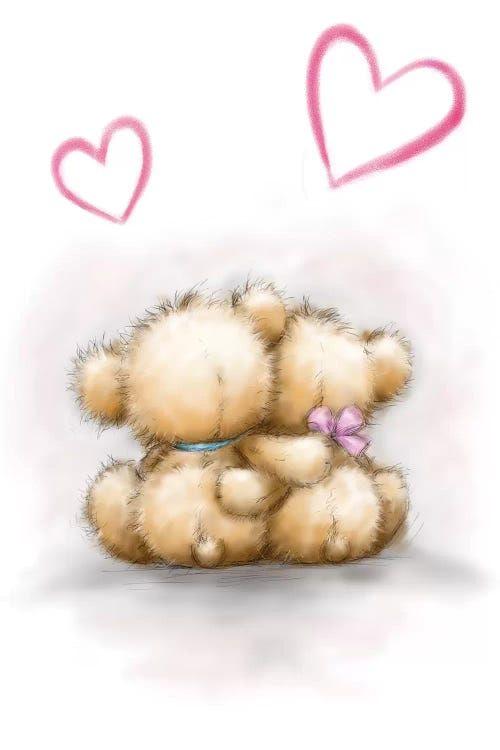 Love Bears Canvas Print By Makiko Icanvas Teddy Bear Drawing Cute Bear Drawings Teddy Bear Images