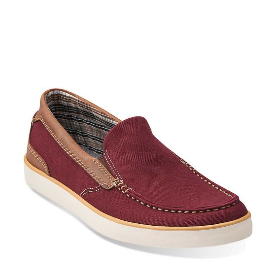 Boid Knoll in Red Canvas - Mens Shoes from Clarks