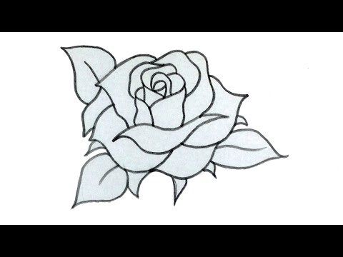 How To Draw A Rose Easy Step By Step Rose Drawing Tutorial Youtube Rose Drawing Simple Rose Drawing Easy Skull Drawings