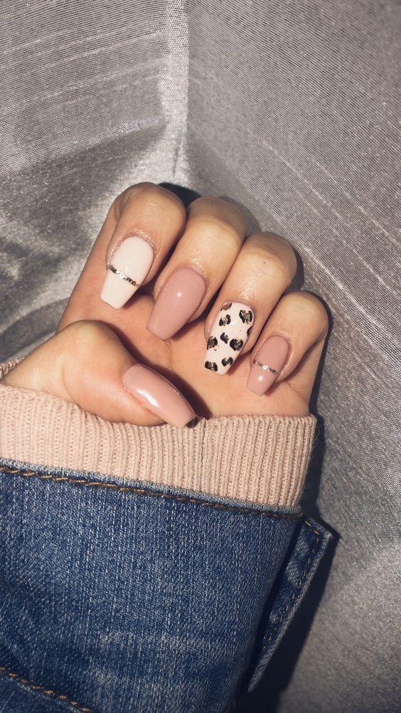 65 Leopard and Animal Print Nails for Hot Summer - Page 23 of 64 - Girlrs, Animal print, leopard nail, nail arts, summer nails, autumn nails, winter nails, sexy nails,