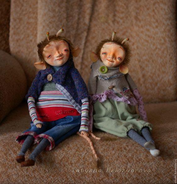 Купить Урайджи - комбинированный, существо, Будуарная кукла, подвижная кукла, авторская ручная работа, Ладолл