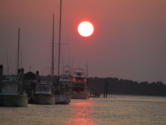 Stunning sunset at the Edisto Marina!