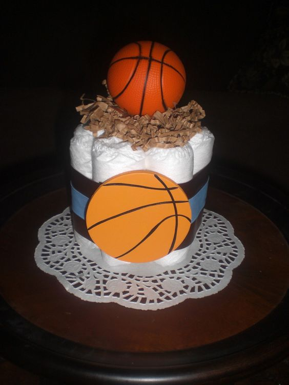 basketball diaper cake