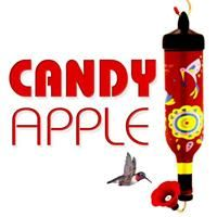 750mL single-shot Hummingbird Feeder in Candy Apple Red, available at tipsybirds.com
