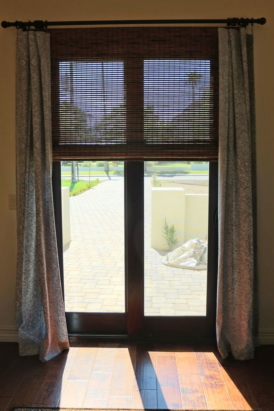 Used overstock to find the same blinds as lower that would allow the length needed for sliding door.