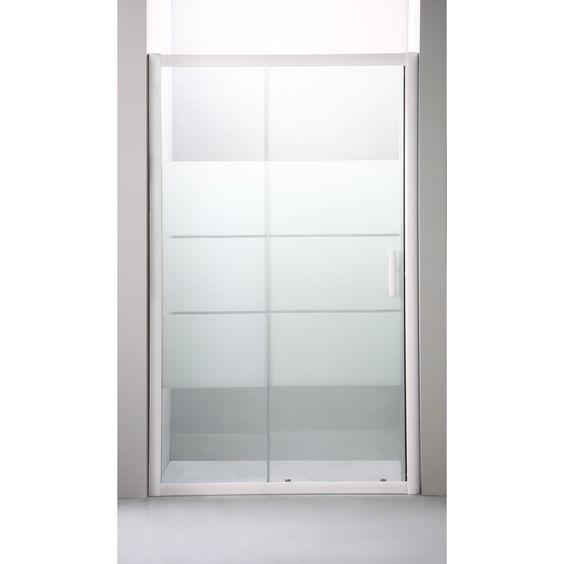 Porte de douche coulissante optima 2 sensea verre s curit - Porte de douche sensea ...