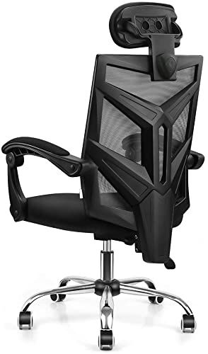 New Vanspace Dc03 Ergonomic Mesh Office Chair High Back Computer Chair Desk Chair Home Mesh Chair Thick Cushion Soft Adjustable Headrest Armrests Black On In 2020 Mesh Office Chair Mesh