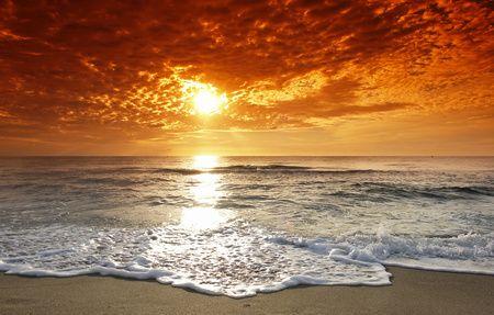 BEACH VACAY-Sunset on the beach.