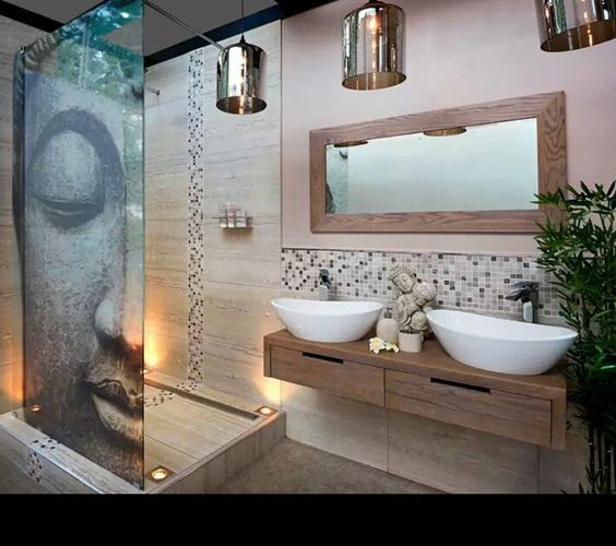 Nature zen and nattes on pinterest for Salle bain spa