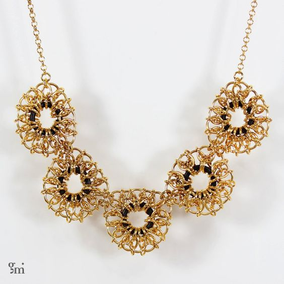 Statement Bridal Necklace, Gold Plated Necklace, Golden Necklace, Bridal Jewelry, Wedding Jewelry, Bridal Necklace, Necklace for the bride, - pinned by pin4etsy.com