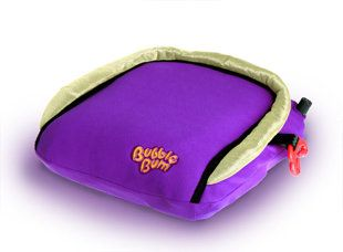 Bubble Bum inflatable booster seat. (We like it!)