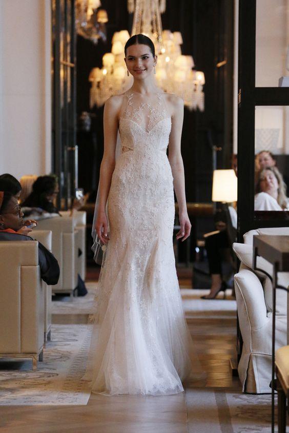 Monique Lhuillier Bridal Spring2016 So edgy and modern, but still tasteful!