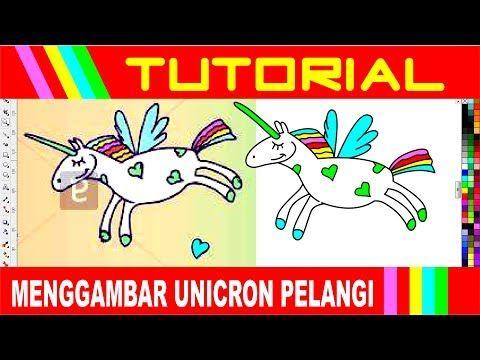 Cara Menggambar Kuda Poni Pelangi Youtube Cara Menggambar Kuda Gambar