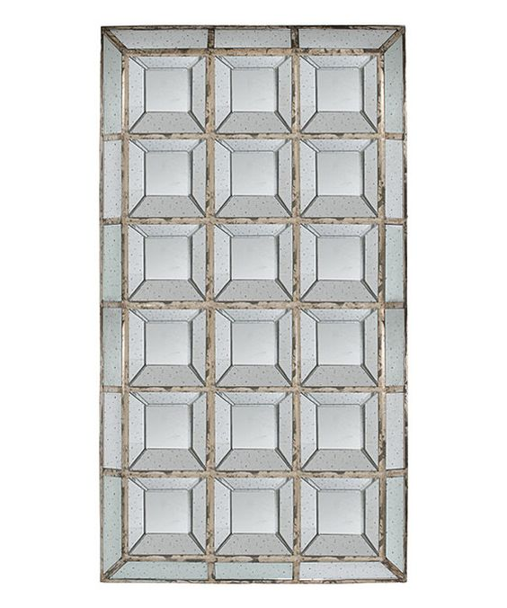 Look at this Vintage Tall Squares Wall Mirror on #zulily today!