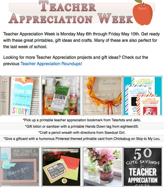 16 diy teacher appreciation projects! DIY gifts, printables and projects for teacher appreciation or the last day of school!