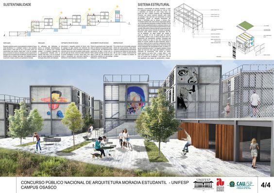 Galeria - 16° Lugar no concurso para Moradia Estudantil da Unifesp Osasco / Bacco Arquitetos Associados - 2