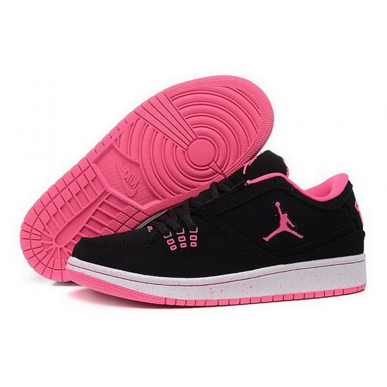 Womens Air Jordan 1 Retro 2015 Low Black Pink Basketball Shoes