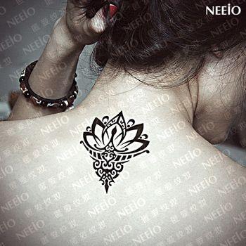 Temporäre Tattoo spatterdock Lotus Blume Tattoo Aufkleber sexy wasserdichte gefälschte Blume Design Körper Kunst Kostenloser Versand