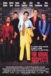 """Near the end of The Usual Suspects, Kevin Spacey, in his Oscar-winning performance as crippled con man Roger """"Verbal"""" Kint, says, """"The greatest trick the Devil ever pulled was convincing the world he didn't exist."""" This may be the key line in this story; the farther along the movie goes, the more one realizes that not everything is quite what it seems, and what began as a conventional whodunit turns into something quite different."""