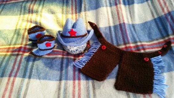 Crochet cowboy set