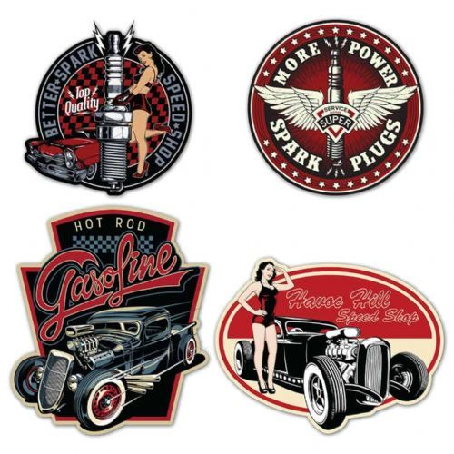 Vintage /'60/'s Roth Bikers Wedding Motorbike Harley Chopper Sticker Or Magnet