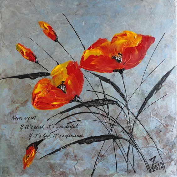 acrylic+abstract+flower+paintings | Acrylic Abstract Painting ...